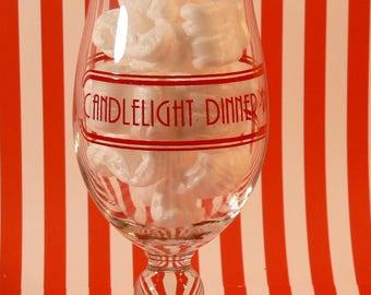 Candlelight Dinner Playhouse Forum Theatre Rare Vintage Souvenir GLASS Summit Illinois LOST CHICAGO