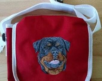 Rottweiler Embroidered Shoulder bag/Purse
