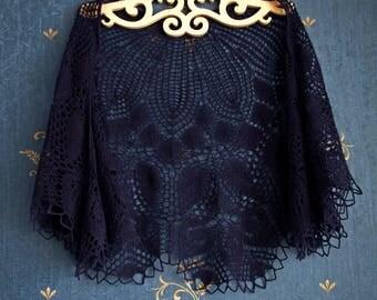 Hand knit blue shawl,Hand Knitted Shawl ,Party scarf,Wedding shawl,Women Shawl,Wool Shawl,Handmade Shawl,wedding shawl,bridesmaids shaw