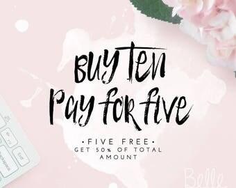 COUPON Buy 10 Items - Save 50%