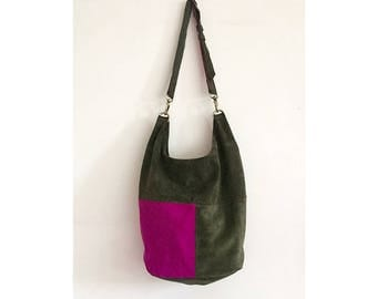 gift ideas for her, suede tote bag, leather tote bag limited edition made in italy by BBagdesign