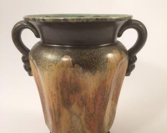 Vintage vase Steuler 3767 in orange, green and brown
