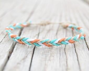Hemp bracelets friendship bracelets braided bracelets mens colorful bracelets hemp jewelry raw hemp cord hippie jewelry
