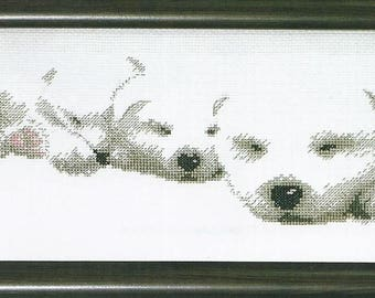 Cross Stitch Kit Puppies