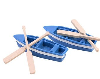 1Pcs boat and 2pcs oar/doll house//miniatures/lovely cute/fairy garden gnome