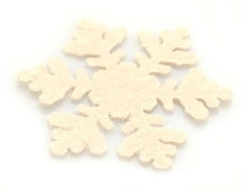 Snowflake felt - diameter: 6cm - colour choice