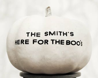 Personalised Family Name Quote Halloween Pumpkin Sticker