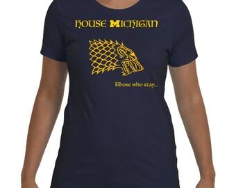 House Michigan women's t-shirt