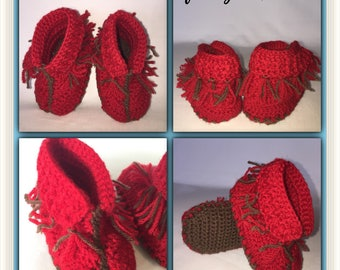 Crochet Baby bootie - Knit Baby Bootie - Cute Crochet shoe - Cute Knit Shoe