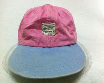 Polo Ralph Lauren USA Chino Vintage Hat Cap Size Large Pink Blue