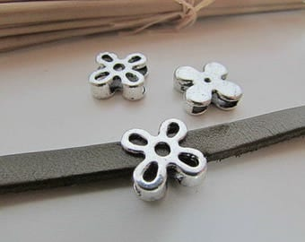 5 beads for 10 x 2 mm - silver - 62.19 cord