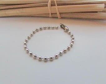 10 chain ball of 10 silver metal with clasp - ref 30.50 cm