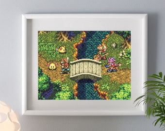 Seiken Densetsu 3 Print Rabite SNES Artprint Pixelart Secret of Mana 2