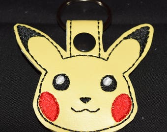 Pokemon Pikachu key fob key chain zipper pull bag tag. Pokemon
