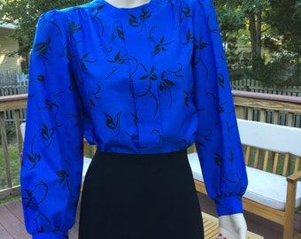 Vintage long sleeve work blouse