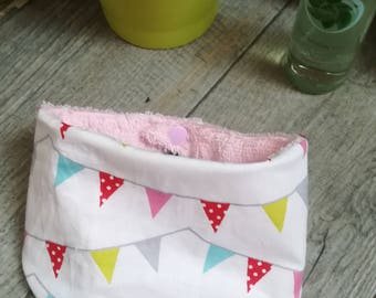 """Bandana bib for baby Terry and cotton """"flags"""""""