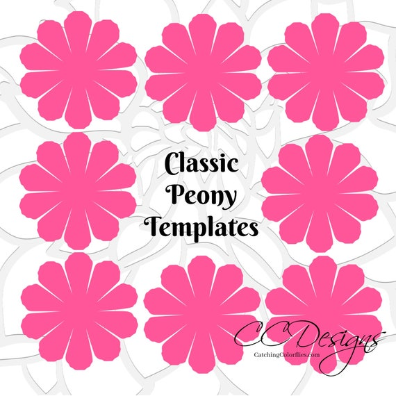 Paper peony patterns tutorial peony paper flowers printable il570xn mightylinksfo