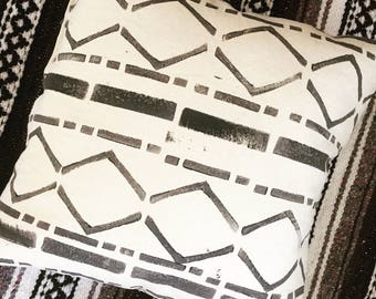 Hand Printed Pattern on 100% Up-cycled Cotton
