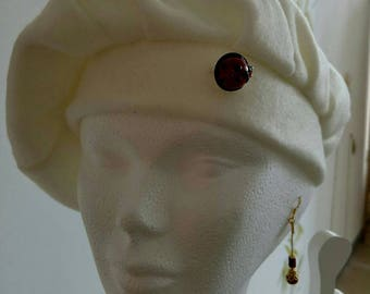 adorned with off white beret d wax d bee brooch