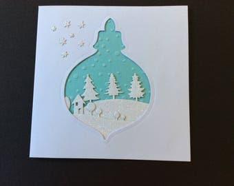 Snowy Christmas greeting card