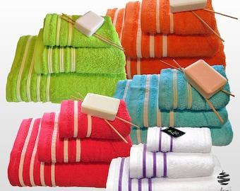 Top Quality Bath Towels 500gsm Ref. Veludo – 3 Pieces Set - Bath Sheet, Hand Towel, Guest Towel – Various Colors