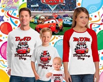 15% Off Disney Cars Birthday Shirt -Lightning McQueen and Mater Racer Shirt/lightning McQueen shirt/Disney cars shirt/birthday boy/family-ca