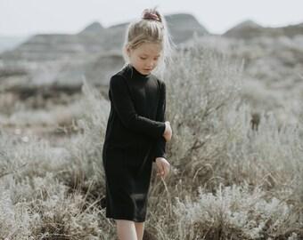 Black Ribbed Dress