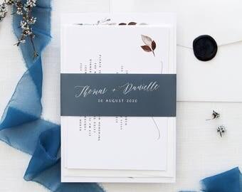 River 2 Wedding Invitations, Hand Painted Watercolour Elements, Wedding Invitation Sets, Elegant Invitations, Calligraphy Floral Invitations