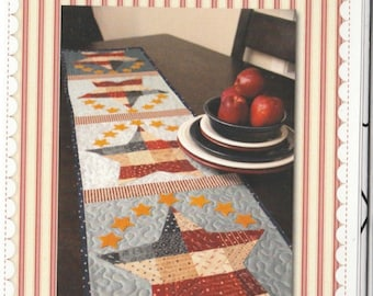 SALE! Patriotic Table Runner - Pattern - by Shabby Fabrics - Stars
