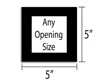 5x5 Photo Mat - Multiple Colors - Any Opening Size