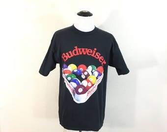 90's vintage budwiser beer 100% cotton t-shirt made in usa size XL