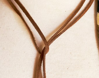 Gifts for Her, Leather Lariat Necklace