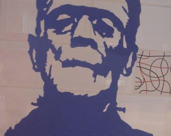 Portrait of Frankenstein's monster cutter