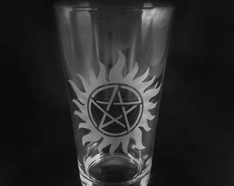 Supernatural inspired glass