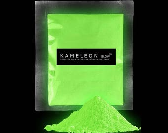 GLOW in the Dark Pigment Powder for Arts, Crafts, Paint, Soap Etc. Yellow/Green Glow