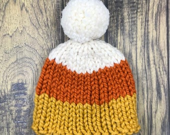 Ready to ship // Candy Corn Hat