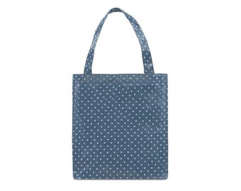 Oilcloth lunch bag for women - Small Reusable bag - Oil cloth lunch bag for kids- Ladies toiletry bag- small bag- Waterproof bag- Polka dot