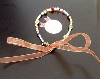 BRONZE BRACELET AND ORGANZA RIBBON
