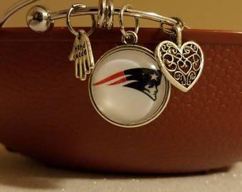 Patriots bangle bracelet