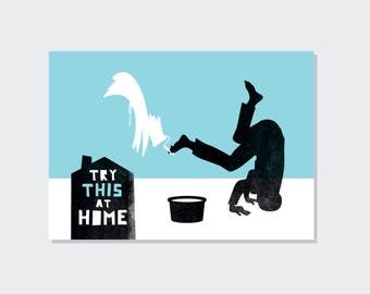 Try this at home // Moving // postcard (A6)