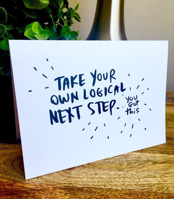 Encouragement card, way to go card, handmade congrats card, you got this card, go girl card, sidesandwich, unique graduation cars