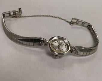 14K White Gold Lucien Piccard Watch