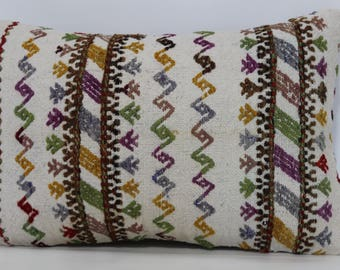 16x24 Bohemian Kilim Pillow Sofa Pillow 16x16 Decorative Kilim Pillow Bohemian Kilim Pillow Turkish Kilim Pillow Cushion Cover   SP4060-577