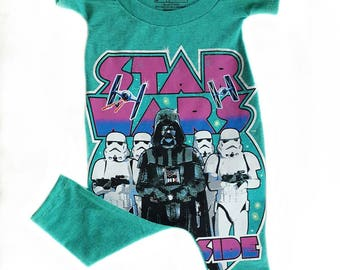 Star Wars Romper or Dress or Tee Shirt/ Upcycled tee shirt romper