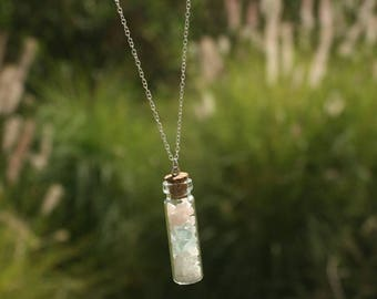 Crystal Bottle Necklaces