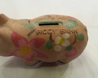 """Vintage 1960s Wenden-Crafts New York. Pressed Pulp.  Rare Piggy Bank.  Nicely Used Condition.  6"""" L, 3"""" W, 4"""" H. Great Collectible.  V Nice."""