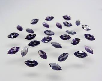Alexandrite 10x5mm Marquise Shape Cut Loose Stones Color Change Corundum Gemstones
