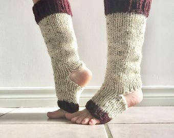 Stirrup Leg Warmers, Yoga Socks, Dance Socks