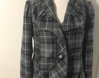 Vintage Heavy Jacket Plaid Flannel By Robert Louis Size XL