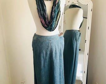 Vintage Denim skirt Ralph Lauren Blue Jean Skirt Size 4